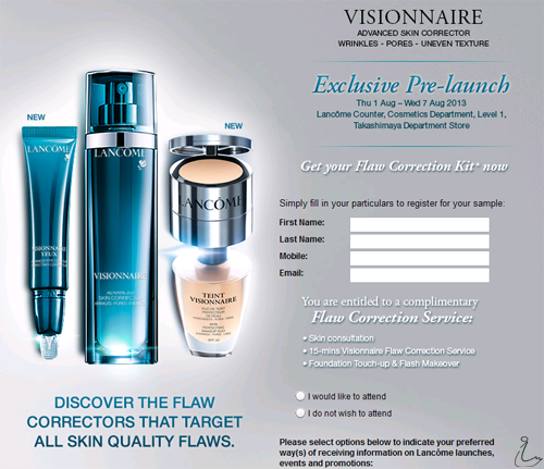 The Swanple: Free Sample: Lancôme Visionnaire Flaw Correction Kit ...