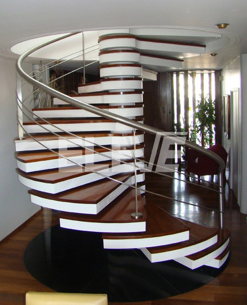 Decoracion actual de moda escaleras tipo caracol - Escaleras de caracol de madera ...