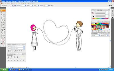 kartun yang baru saya trace kartun wanita untuk diwarnakan kartun