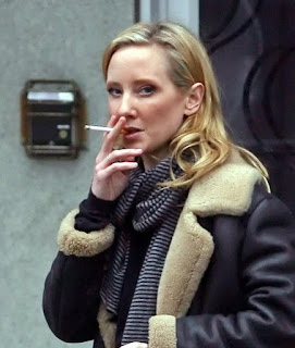 Anne Heche Smoking Cigarette