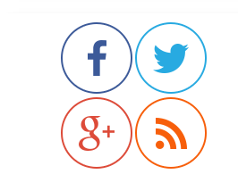 Fancy Round rotating social Media sharing Icons widget