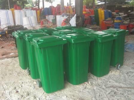 Tong sampah berod 120 liter