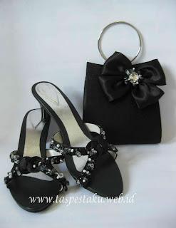 Tas Pesta dan Sandal Pesta dan Clutch Bag