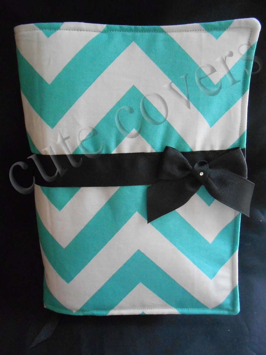 Fabric Book Cover With Handles ~ Cute covers aqua chevron bible cover fabric handles
