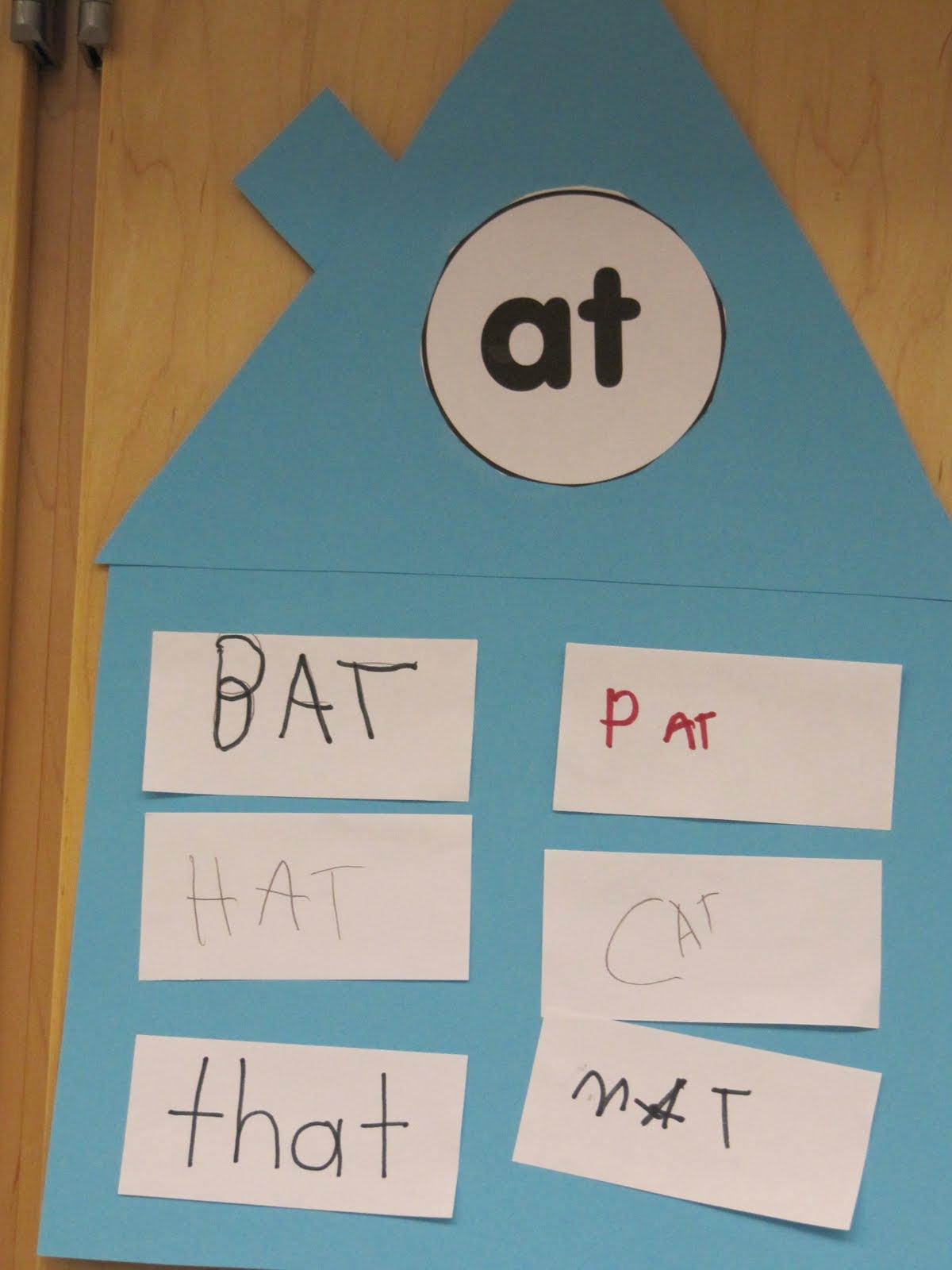 Joyful Learning In KC: Word Family Houses