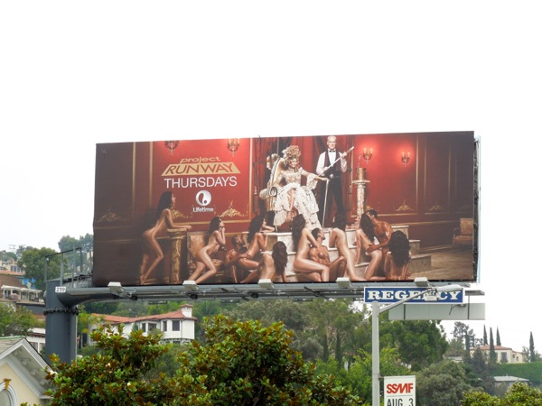 Racy Project Runway season 12 billboard ad