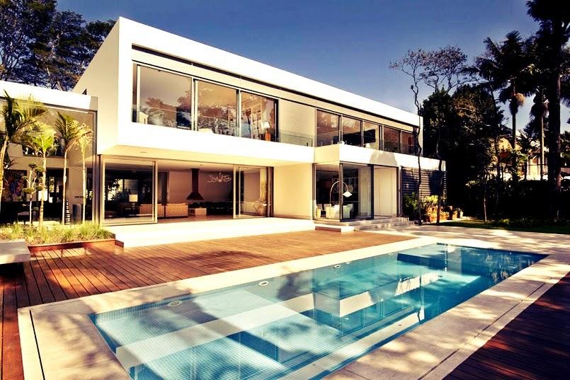 casa morumbi de arquitectura minimalista y concepto