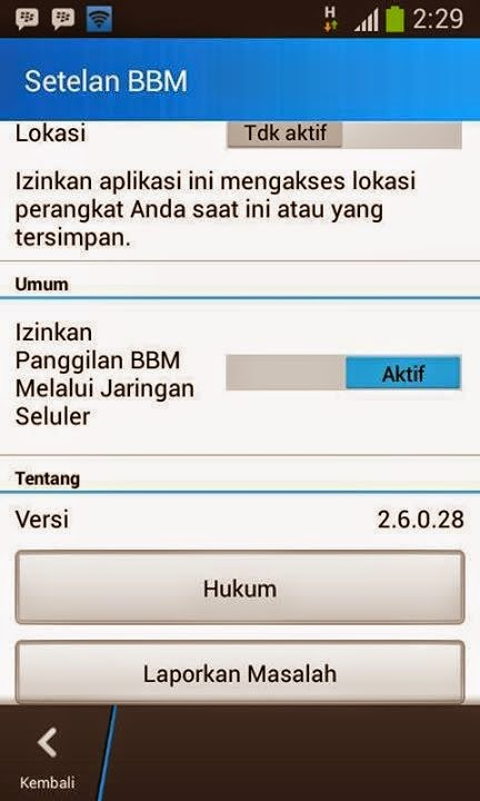 BBM Mod Official v2.6.0.28 + Sticker Gratis Android
