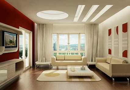 Collection of modern luxury living room with TV interior ...