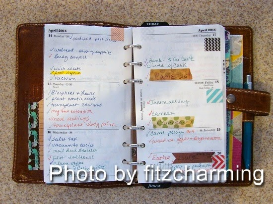 Filofax Calendar Pages Example