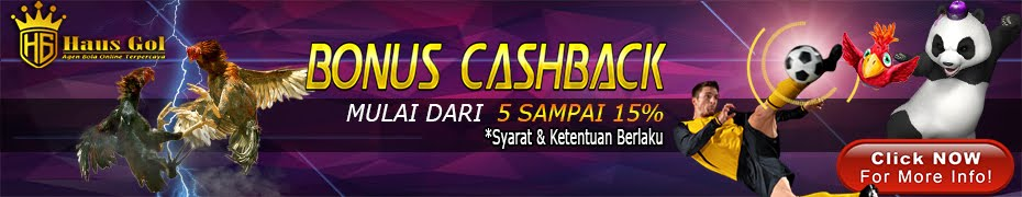 BONUS CASHBACK 5-15%