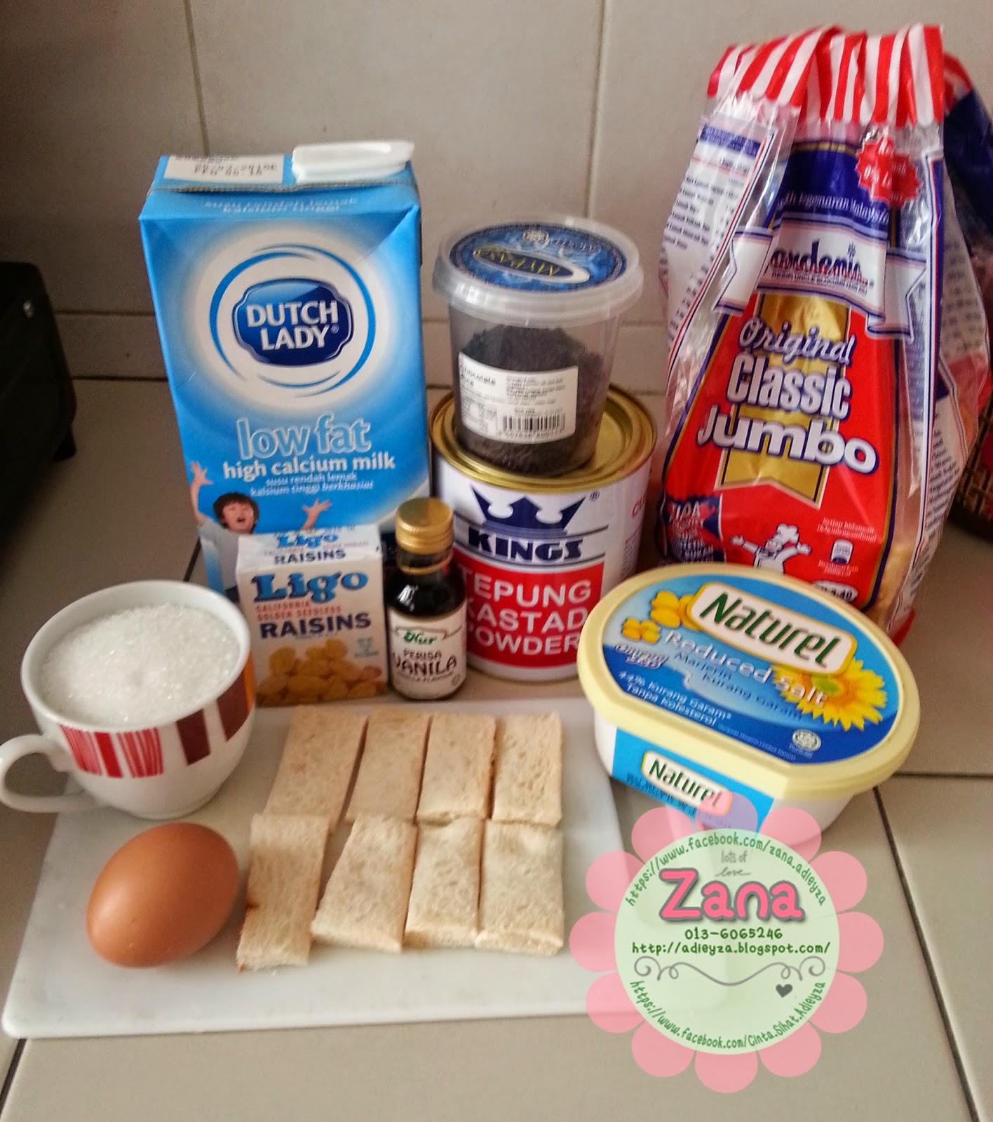 Resepi Puding Roti dan Sos Kastard Guna Pemanggang Ajaib