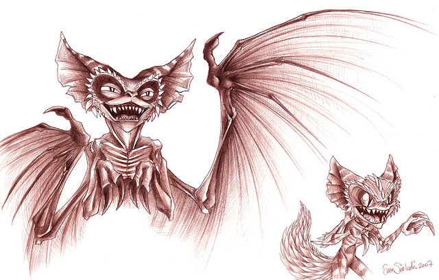 Gremlins - Bat and Chinchilla por DarkJak