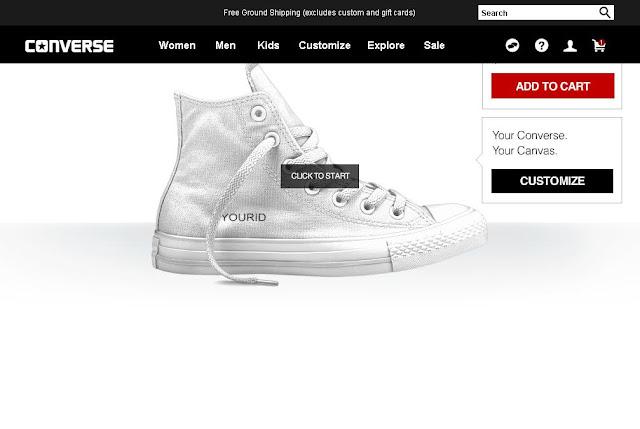 Um sneaker para chamar de seu: Converse aposta em customização online