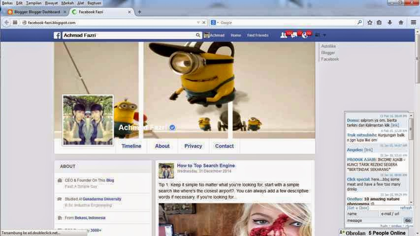 Template Blog Facebook New