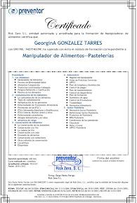 Certificado Manipulador de Alimentos