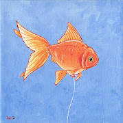 This is another take on the balloon goldfish. Why again? (goldfish as helium balloon)
