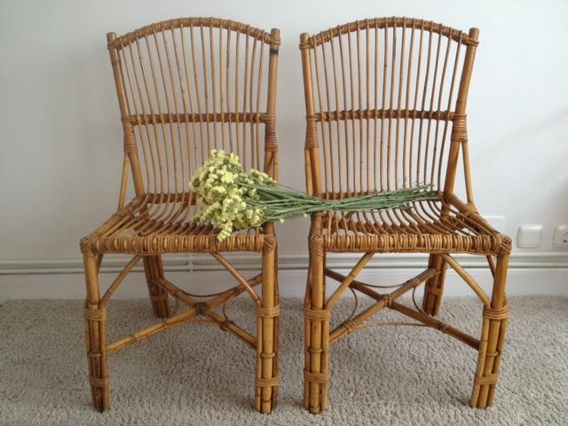 El taller de chlo sillas de mimbre con mucho encanto for Sillas mimbre comedor