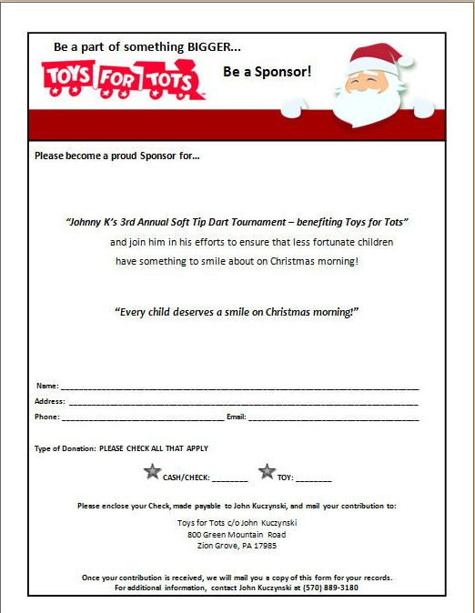 Toys For Tots Flyers Printable : Johnny k s th annual toys for tots