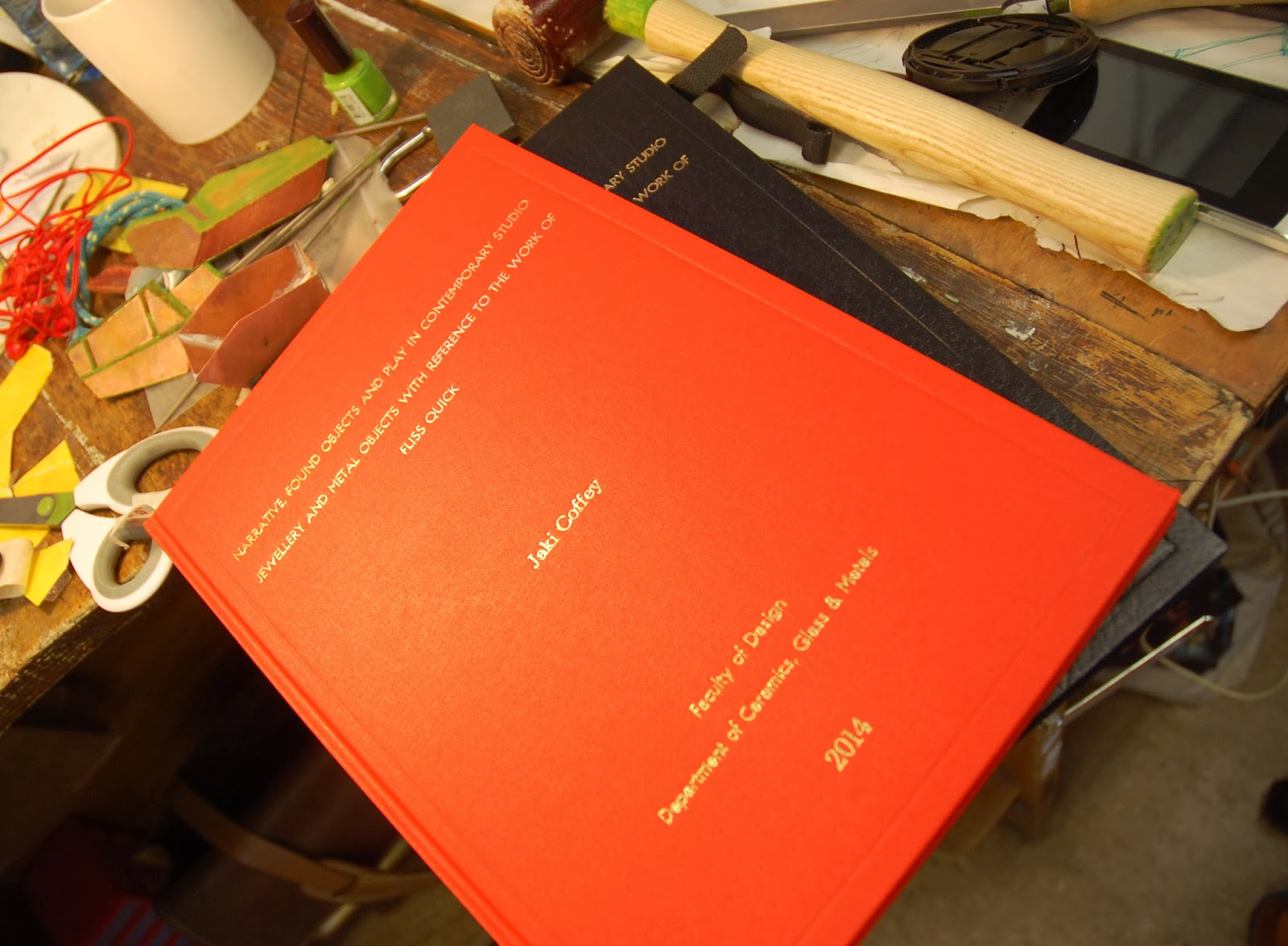A book by Jaki Coffey entitled 'Narrative Found Objects and Play in Contemporary Studio Jewellery and Metal Objects with Reference to Fliss Quick'.