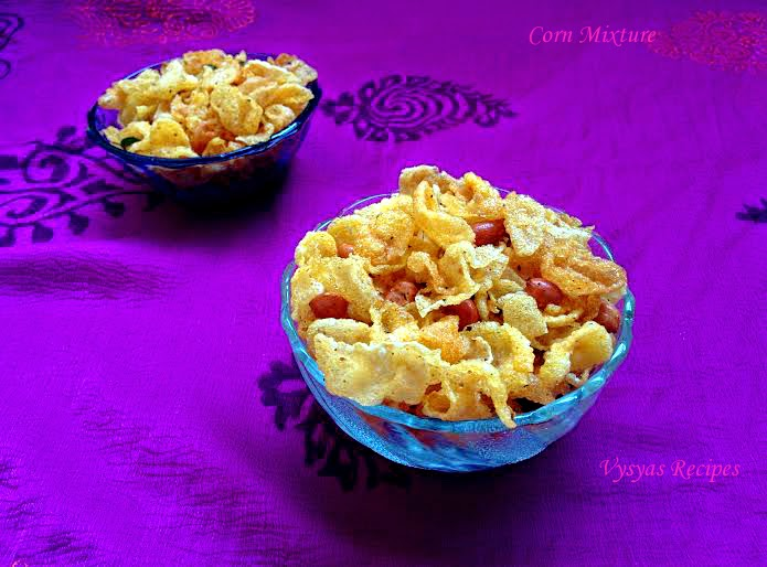 Easy Cornflakes Chivda - Cornflakes Mixture - Makai Chivda