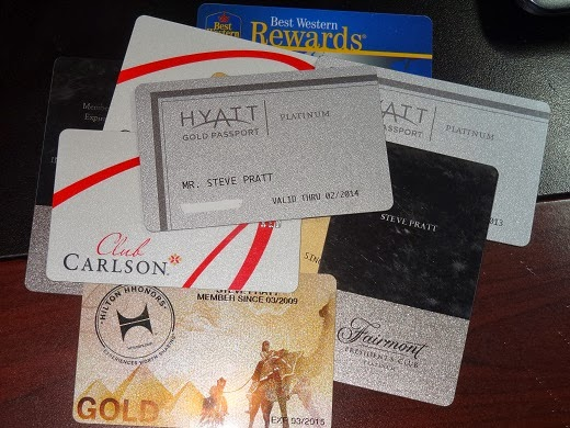 Club Carlson Hilton Hyatt Fairmont Best Western loyalty cards