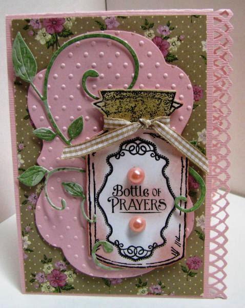 ODBD Apothecary Bottles, Apothecary Bottles Die Set, Joy in a Jar, Card Designer Tina DeLong aka Garden Diva