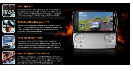 4 Free Games for Xperia Play from Sony Ericsson and EA
