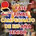 FASE FINAL DEL CAMPEONATO DE ESPAÑA SENIOR 2014. <BR>Sábado 3 y domingo 4 de mayo.