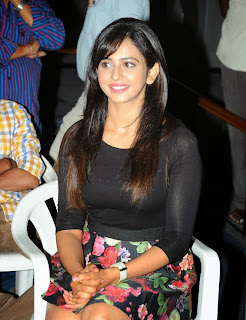 Actress Rakul Preet Singh Pictures in Floral Short Skirt at Rough Teaser Launch  62