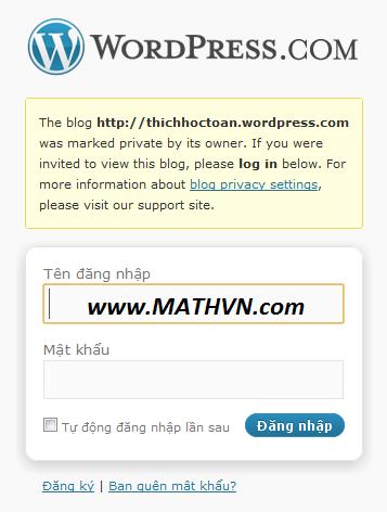 Blog Thich Hoc Toan cua Ngo Bao Chau dong cua