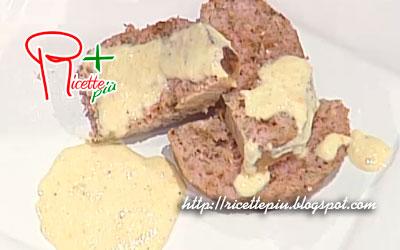 Polpettone di Funghi con Salsa al Vino di Antonella Clerici da La Prova del Cuoco