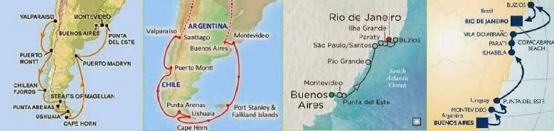 CHILE ARGENTINA URUGUAY BRAZIL PORTS