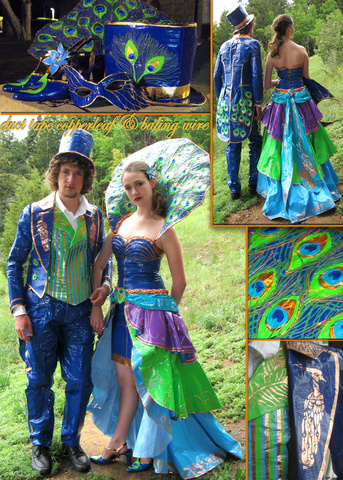 Duct tape prom dress pattern