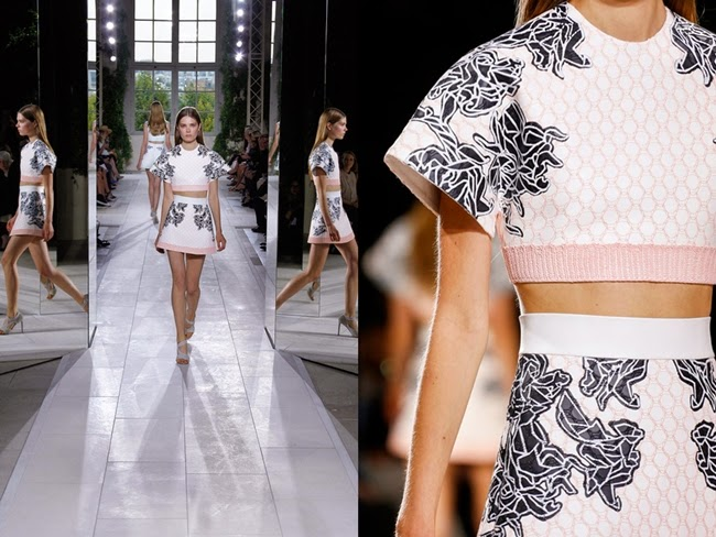 Balenciaga SS 2014 Jacquard Pink Sportsuit