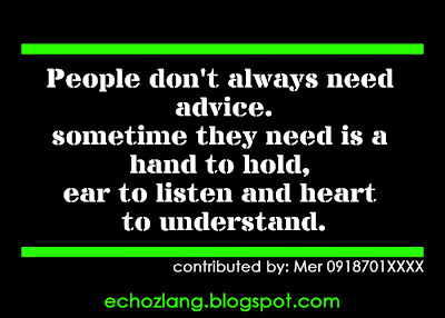 People don't always need advice