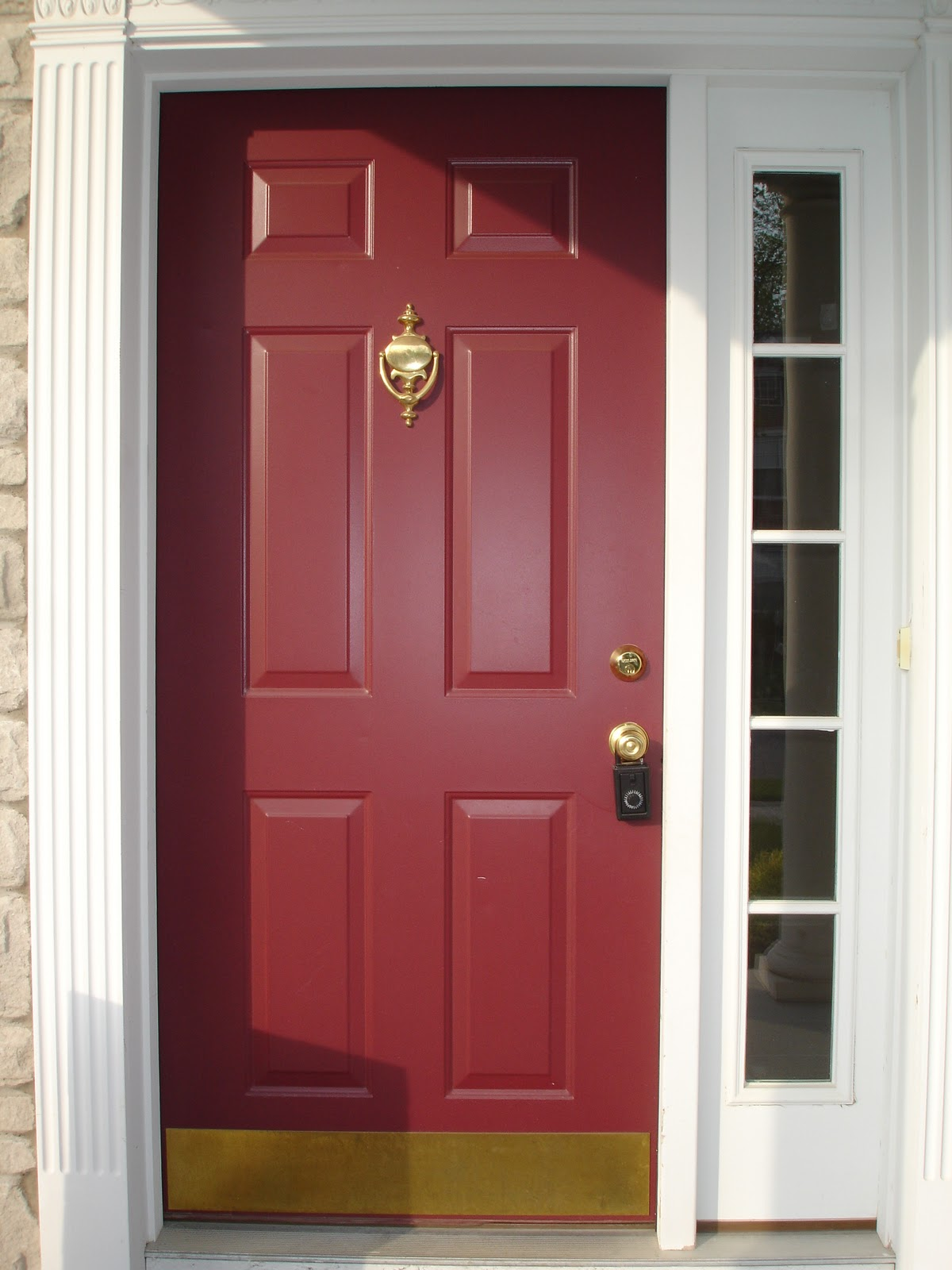 The yellow cape cod 31 days of building character more on the door - Front door paint colors ...
