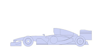 menggambar mobil balap formula 1