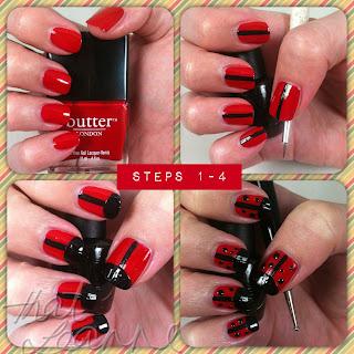 thatleanne easy lady beetle nail art