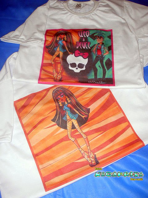 Blusas Personalizadas - Monster High