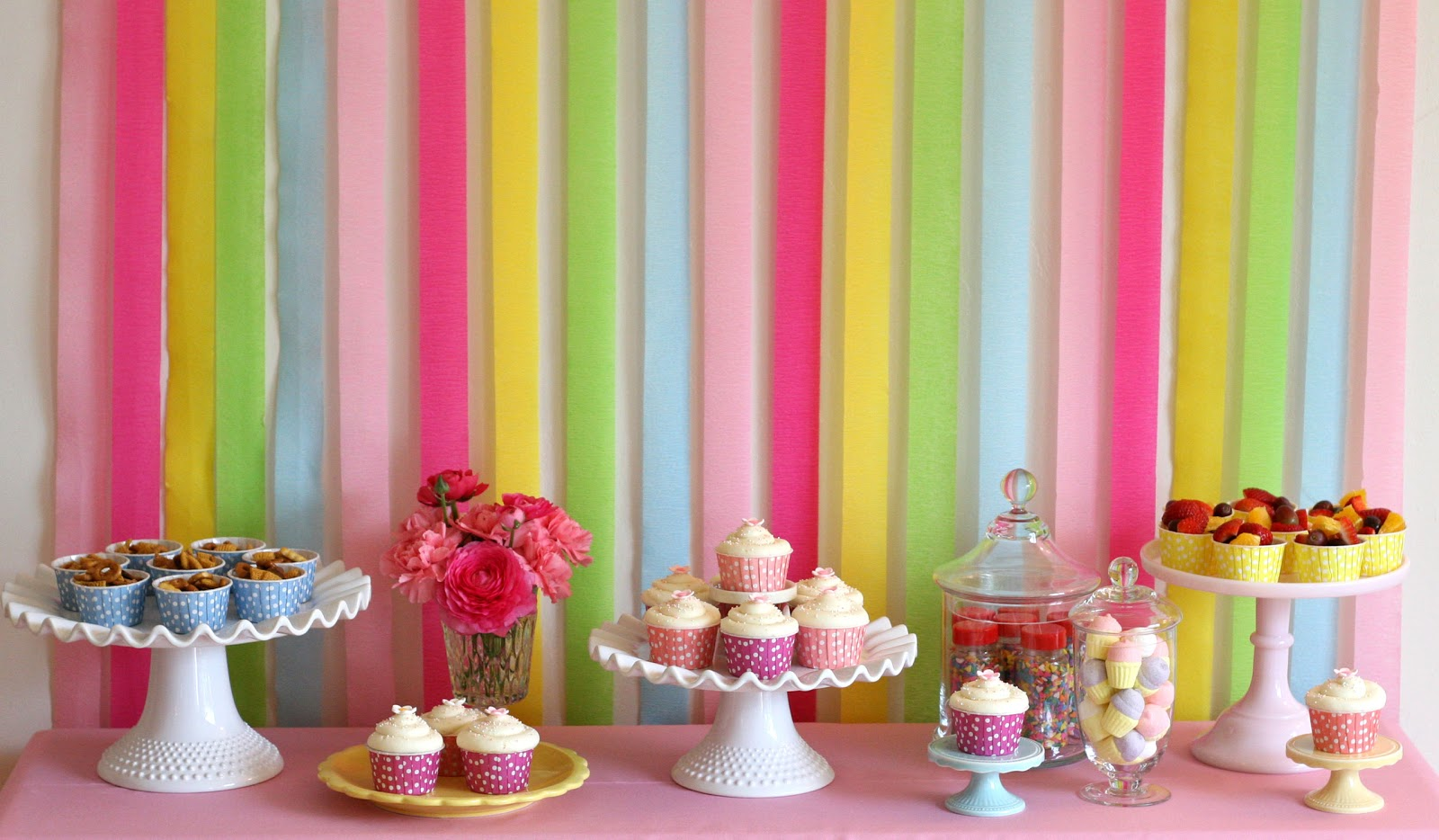 Birthday table decorations for girls - Grace S Cake Decorating Party