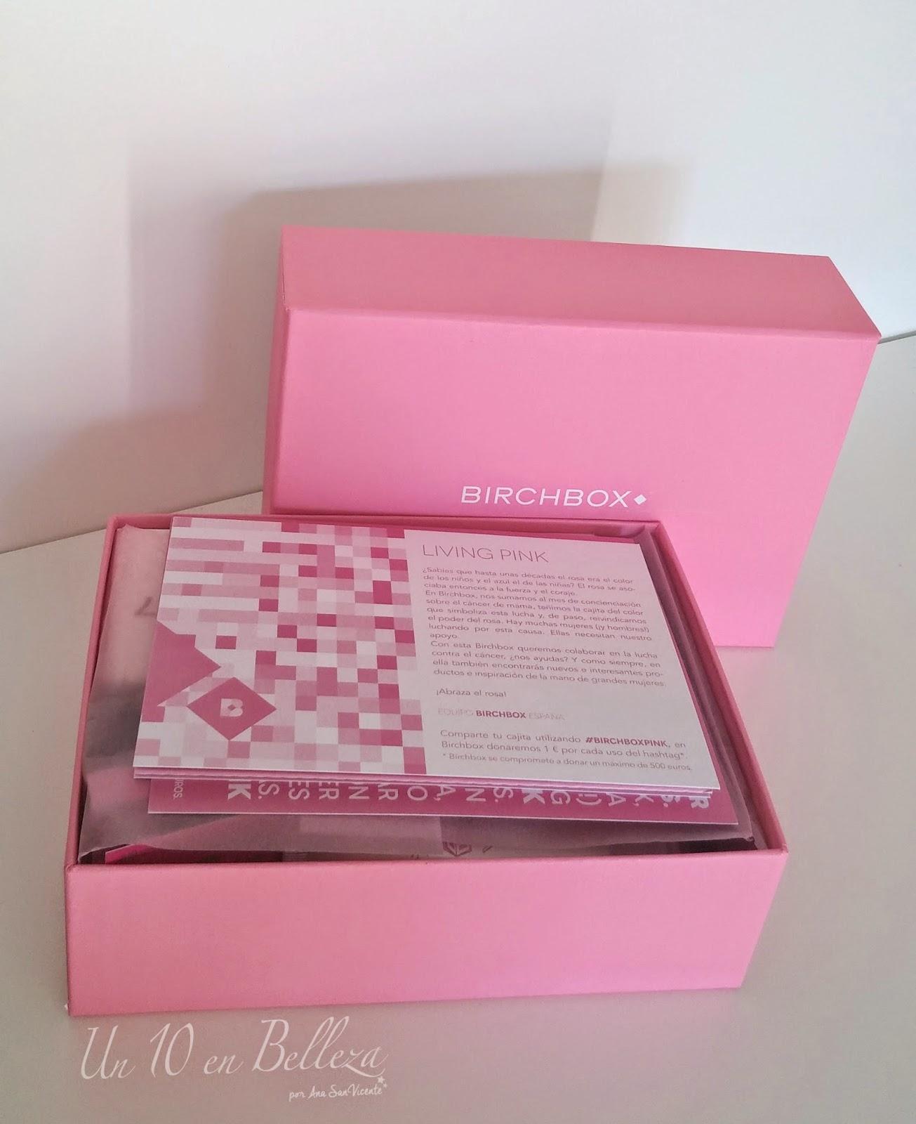 birchbox, caja de muestras, octubre 2014, living pink