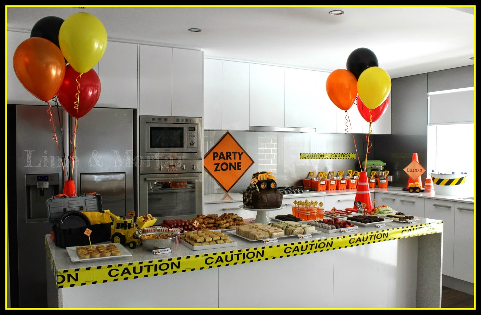 Engineering Party Ideas : Lime mortar kids parties construction party