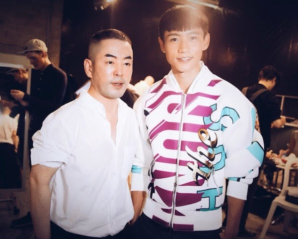 魏晨 Wei Chen in JUUN.J x JOSH LUKE 2014 jacket - Paris Fashion Week SS2015 PFW
