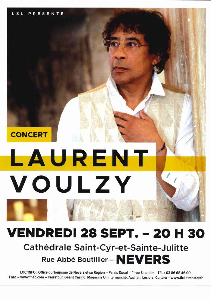 Concert Laurent Voulzy le 28 septembre à 20h30 à la Cathédrale Saint-Cyr-et-Sainte-Julitte à Nevers