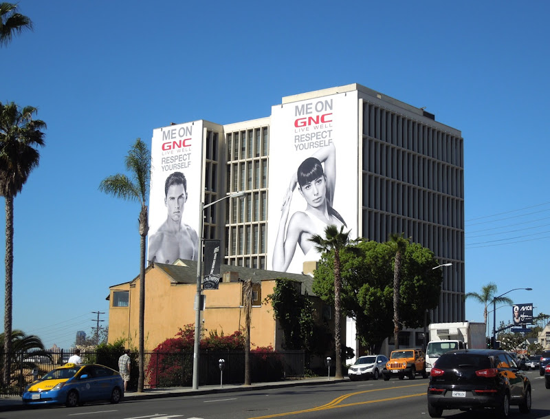 GNC Respect Yourself billboards Sunset Strip