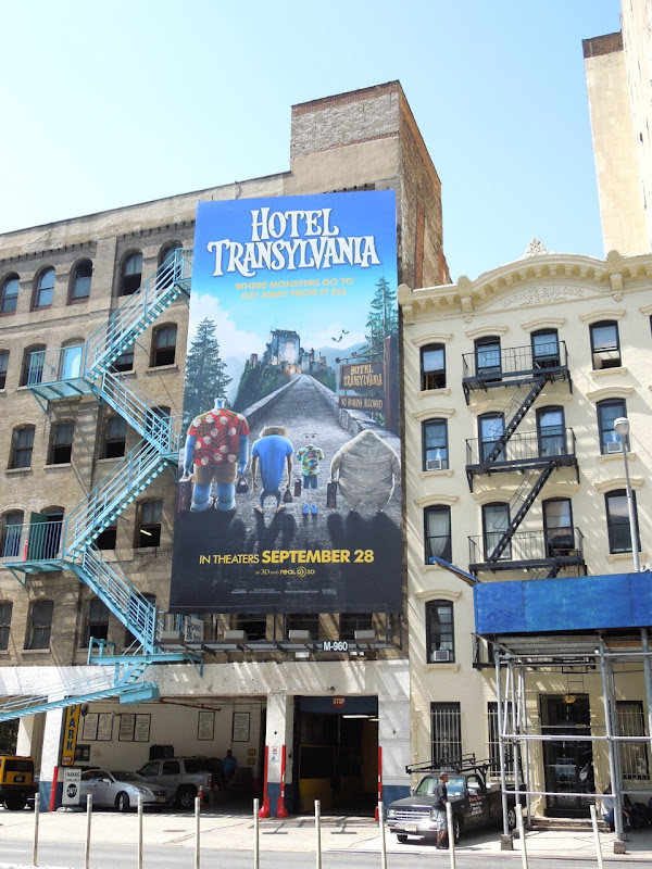 Hotel Transylvania movie billboard NYC