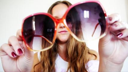 photo of big primark sunglasses