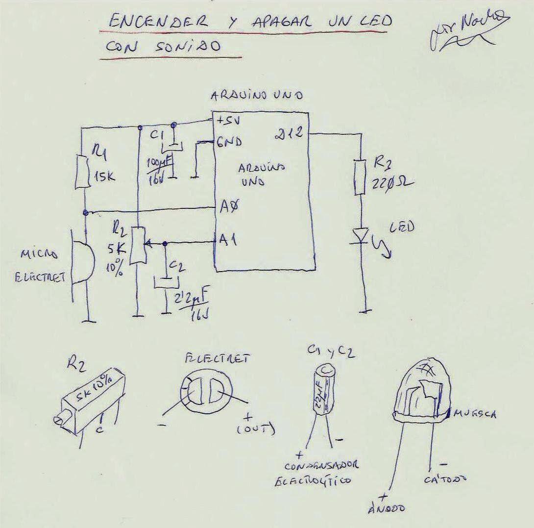 Circuito Led : Cotidiana place: encender y apagar un led con un sonido