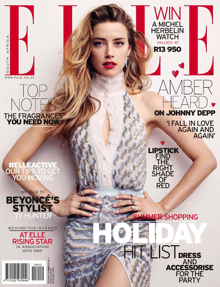 Arts Cross Stitch: Actress, @ Amber Heard - Elle South Africa ...